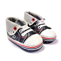 Brand Mothercare Baby boy's navy/white leather sport first walkers shoes