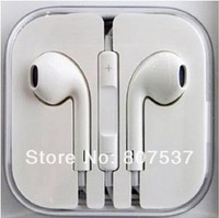 Brand New Newest Free Shipping EarPods Earphone Headset Headphone With Remote & Mic For Apple IPhone 5 5G In Box Gift