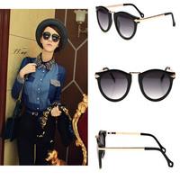 Fahion cool women cazal sunglass cat eye vintage sunglasses men gafas de sol coating sunglass women brand designer sun glasses