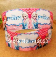 New Arrival 1'' (25mm) frozen princess printed Grosgrain ribbon Cartoon Ribbon DIY haribow gift wrapping garment accessory