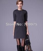 2014  New arrival women cotton slim fashion dress elasticity thin skirt Women's  elegant  style Free Shipping