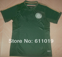 Free shipping Palmeiras home green jersey 2014 high quality thai version player version soccer jersey