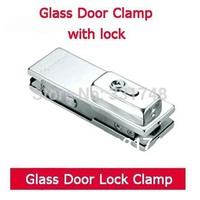 Free shipping Glass door lock clamp HC-3150D glass door clamp glass clamp with lock patch fitting