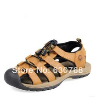 2014 Male outdoor sandals sports sandals Men breathable genuine leather cowhide personality the trend
