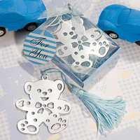 Free Shipping Elegant and Creative Silver Teddy Bear Bookmark Favor 60PCS/LOT
