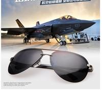 Free Shipping 2014 High Quality Vintage Fashion Men Polarized Sunglasses Brand Designer Black /Gray Color A143