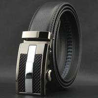 Men genuine leather belt automatic buckle leather belts for men belt buckle pk100