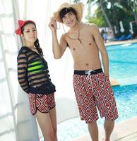 Free shipping hot sales new lovers summer swim beach pants 2014 fashion shorts women and shorts men X_39 wholesale