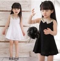 Retail one pc baby girls lace dress sleeveless summer 2014 princess summer dress for girls wear fashion sequin dress