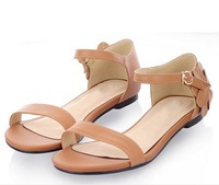 ree shipping2014 new women shopping shoes flowers with flat sandals Rome