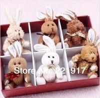 Teddy bear doll sweater bear plush toy bear  doll big hug the bear rabbit valentine gift box   10cm