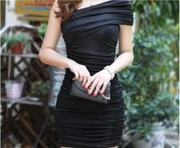 Free Shipping 2014 New Fashion Womens Casual Short Sleeve Bodycon Pencil Dress.A136