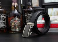 Men genuine leather belt automatic buckle leather bels for men belt buckle pk93