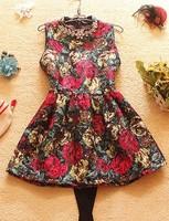 freeshipping sweet sleeveless Luxury Crystal decoration Winter dress Free shipping,  girl's sleeveless sweet tank dress,