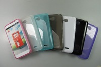 for LG L70 case tpu glossy jelly cover