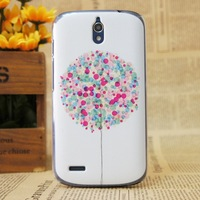 Free Shipping Cute Cartoon Ballon Design Proctective Cover Hard PC Case Back Cover For Huawei G610 +Free Screen Films
