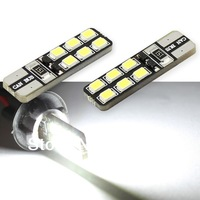 Error Free T10 Canbus 12smd 5050 LED car Light T10 W5W 194 5050 SMD CANBUS LED Light Bulb Free Shipping 10pcs/lot