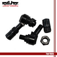 BJ-TYERV-001 Black High Quality CNC Alloy  Tyre  Air Valve Car Tire Stem  For Motorbike