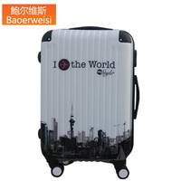 Glossy trolley luggage bag travel bag universal luggage wheels,high quality abs pc 20 24 inch travel bags,2014 new fashion style