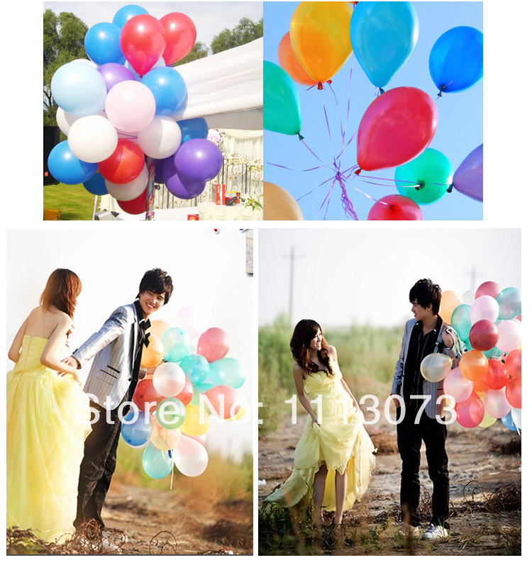 15 colors discount 10-inch round 50pcs/lot wholesale pearl latex balloon festival balloon arches making wedding celebration(China (Mainland))