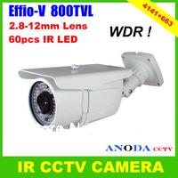 60pcs IR LED 50M IR Distance 800TVL Sony Effio-V Cxd4141gg+663 OSD Menu Outdoor Using Security IR CCTV Camera