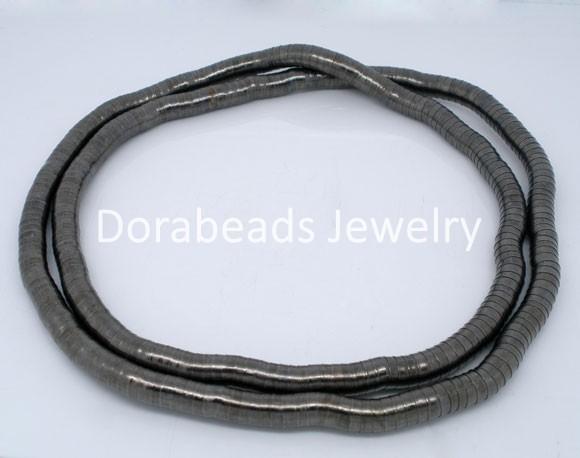 hot- 2 PCs Gunmetal Flexible Snake Chain Necklaces 105cm (B04545)(China (Mainland))