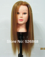 """100% high temperature  24""""  training mannequin head /practice head / make up head with clamp free shiping"""
