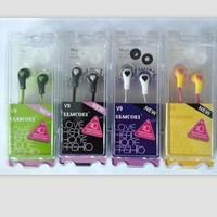 Heart earphones in ear earphones cartoon earphones plastic hard case high quality