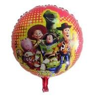 50pcs/lot 18inch Cartoon Toy Story  Aluminum Foil Balloons Party Graduation Decoration Balloon Helium Balloon Free Shipping