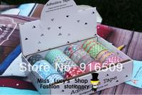 2014new 1lot=16pcs washi masking star DIY tape/cute adhesive tape / DIY sticker label/wholesale