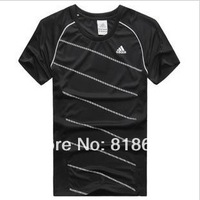 Free shipping sweat absorbent breathable new sports short sleeved T-shirt leisure loose code - breathable men's sport