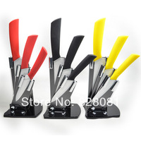 Global Knives with Fruit/Vegatable Knife, stainless steel knife-plan, Coloured Ceramic Knife sets
