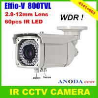 Super WDR 800TVL Sony Effio-V Cxd4141gg+663 OSD Menu Outdoor Using Weatherproof Security IR CCTV Camera