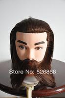 "Free Shipping brand 16"" Hairdressing SALON TRAINING HEAD 100% Real HUMAN Hair male head"