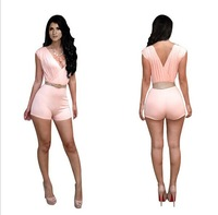 Женский комбинезон new fashion 2 pieces slim sexy club jumpsuits rompers overalls bodysuits women