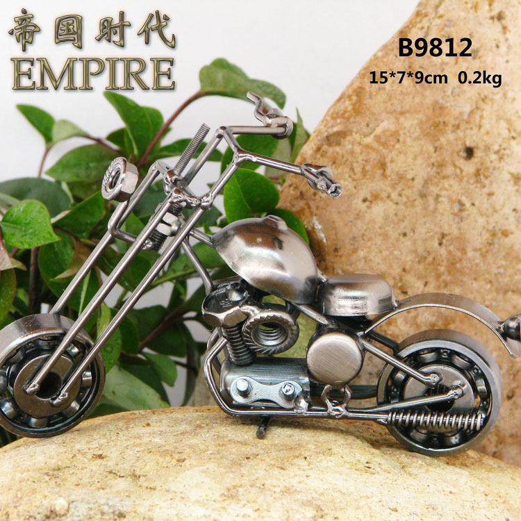 Antique motorcycle model iron crafts decoration vintage motorcycle model b9812(China (Mainland))