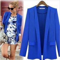2014 fashion solid color elegant outerwear spring new arrival slim large lapel female suit