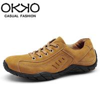Okko winter casual shoes male shoes fashion skateboarding shoes scrub leather shoes 8871