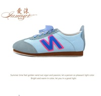2014 spring brief n letter scrub canvas round toe low casual canvas shoes female