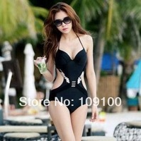 Free Shipping new Hot Sexy spandex one piece hollow Bathing suit spandex Swimsuit Bikinis Women Swimwear S M L mix-order 2colors