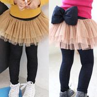 2014 Sale Time-limited Freeshipping Skinny Free Shipping!2014 Spring Autumn Gauze Girls Clothing Baby Child Culottes Legging