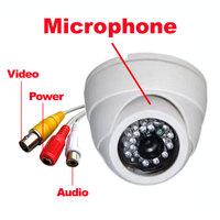 """1/3"""" 600TVL CMOS IR Color Security CCTV Audio Camera Wide Angle 3.6mm Lens MIC"""