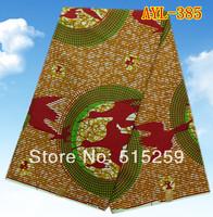 Wonderful design african real block wax cotton wax fabric 6 yards per piece