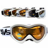 Free Shipping Double Lens Polarized Anti Fog Windproof Ski Goggles UV400 Protection White Europe Style Snow Glasses Men Women