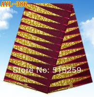 Dutch design african real cotton wax block wax fabric 6 yards per piece