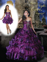 Two Pieces Dress New Arrival Sweetheart Crystal Beaded Corset Ball Gown Pageant Quinceanera Dresses With Removable Skirt