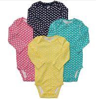 Original Carter's Baby Girls Fashion Bodysuit , Carters Girls long-sleeveBodysuit,  2014 New