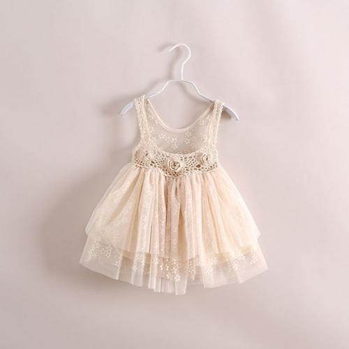 2014 New summer,girls slip dress,children princess dress,flowers,beige/red/black,6 pcs / lot,wholesale kids clothing,0859(China (Mainland))