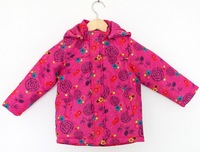 Hot New girls' cotton coats children coat baby fashion hooded clothes printed cotton warm clothes  high quality