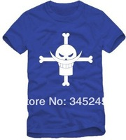 Free Shipping Size 90/100/110/120/130/140/150cm kids t shirt Anime one piece skull logo cartoon T-shirt 6 color 100% cotton